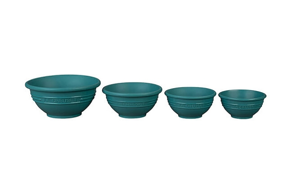 Large image of Le Creuset Carribean Prep Bowls, Set of 4 - FA205-17