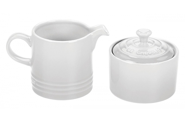 Large image of Le Creuset White Cream & Sugar Set - PG8005-1016