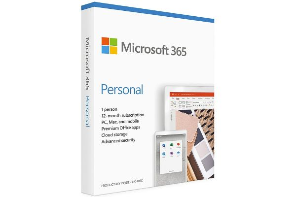 Microsoft Office 365 Personal, 12-Month Subscription, 1 Person, PC/Mac Download - QQ2-01024