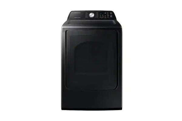 Large image of Samsung 7.4 Cu. Ft. Brushed Black Electric Dryer With Sensor Dry - DVE45T3400V/A3