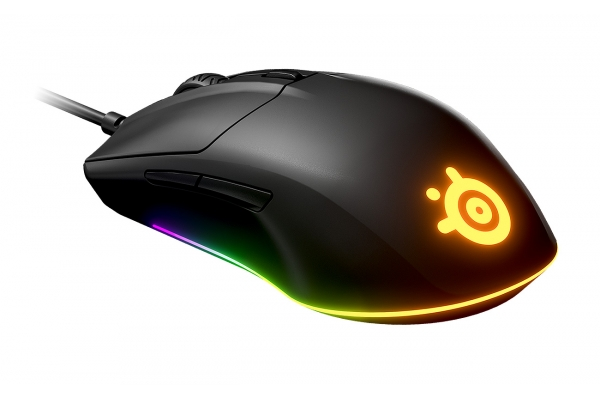 Large image of SteelSeries Rival 3 Black Matte Wired Gaming Mouse - 62513