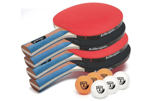 Large image of Killerspin JET SET 4 Table Tennis Set w/ 4 Balls - 110-09