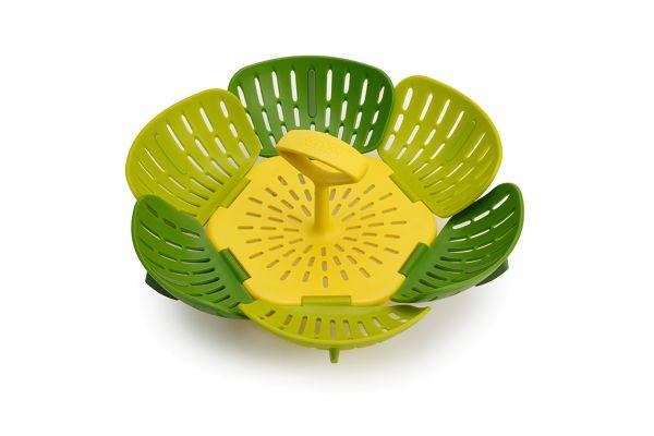 Large image of Joseph-Joseph Bloom Folding Green Steamer Basket - 45030