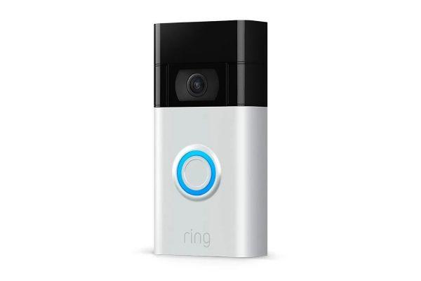 Large image of Ring Satin Nickel Video Doorbell (2020 Release) - B07WGJ8XWZ