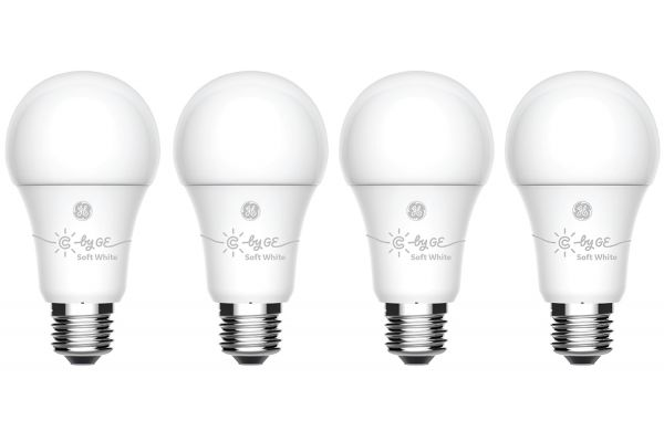 Large image of C By GE A19 4-Pack Bluetooth Dimmable Smart Bulb - 93095835