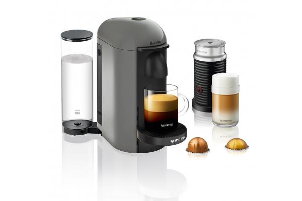 Large image of Breville Nespresso VertuoPlus Grey Espresso Machine Bundle - BNV450GRY1BUC1