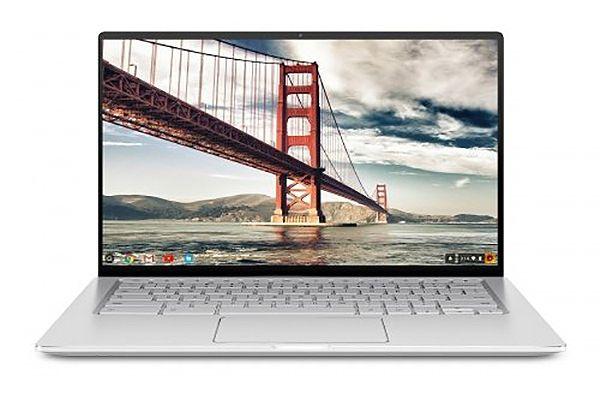 "Large image of Asus Chromebook Flip C434 Silver 14"" 2-In-1 Laptop Intel Core m3-8100Y 4GB LPDDR3 4GB RAM 64GB eMMC, Intel HD Graphics - C434TA-DSM4T"