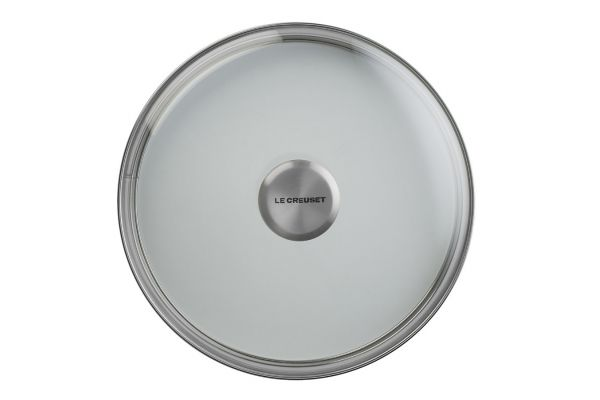 """Large image of Le Creuset 8"""" Glass Lid With Stainless Steel Knob - GL5000-20"""