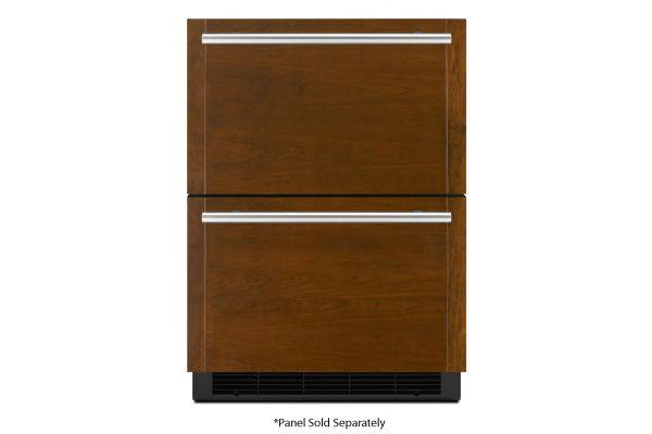 """Large image of JennAir 24"""" Panel-Ready Double-Refrigerator/Freezer - JUCFP242HX"""