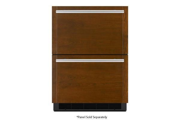 "Large image of JennAir 24"" Panel-Ready Double-Refrigerator Drawers - JUDFP242HX"