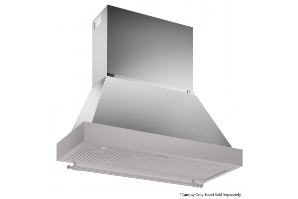 """Large image of Bertazzoni Heritage Series 48"""" Stainless Steel Canopy - KC48HERTX"""