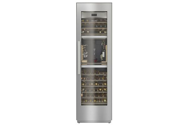 """Large image of Miele MasterCool 24"""" Stainless Frame Built-In Wine Conditioning Unit - 10746120"""
