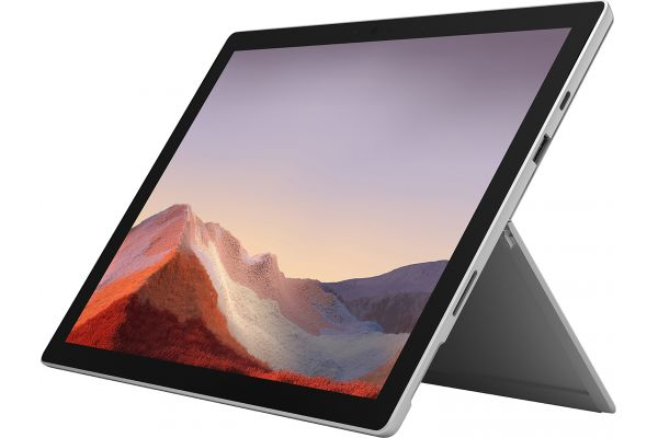 "Large image of Microsoft Multi-Touch Surface Pro 7 12.3"" 256GB i7-1065G7 Platinum Tablet Computer - VNX-00001"