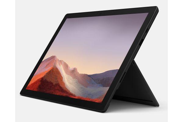"Microsoft Multi-Touch Surface Pro 7 12.3"" 256GB i7-1065G7 Matte Black Tablet Computer - VNX-00016"