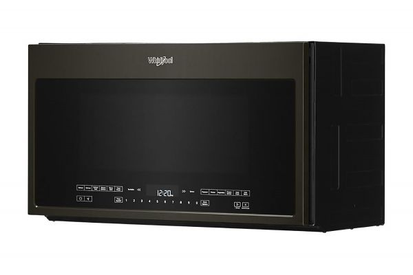 Large image of Whirlpool 2.1 Cu. Ft. Black Stainless Steel Over-The-Range Microwave With Steam Cooking - WMH54521HV