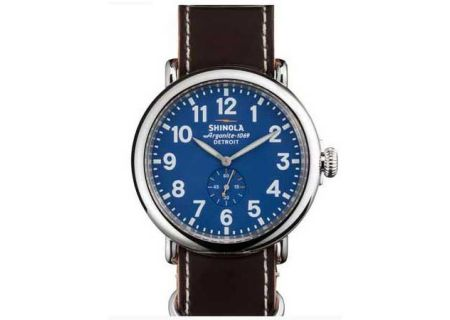 Shinola The Runwell Stainless Steel Blue Dial Mens Watch - S0100015
