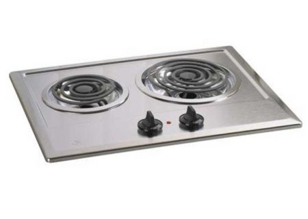 """GE 21"""" Built-In Stainless Steel Electric Cooktop - JP201CBSS"""