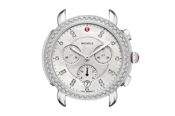 Large image of Michele Sidney Stainless Steel Diamond Dial Womens Watch Head - MW30A01A1046