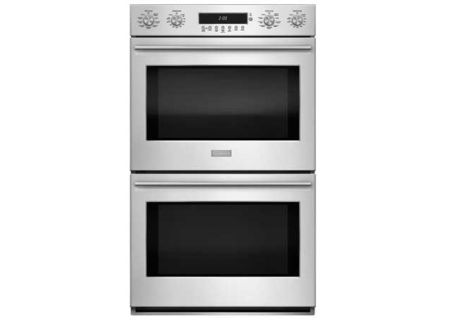 "Monogram 30"" Stainless Steel Built-In Electronic Convection Double Wall Oven - ZET2SHSS"