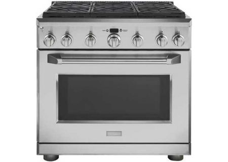 "Monogram 36"" Stainless Steel All Gas Professional Range - ZGP366NRSS"