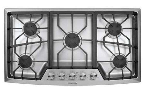 "Large image of Monogram 36"" Stainless Gas Cooktop - ZGU385NSMSS"
