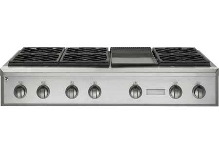 "Monogram 48"" Professional Natural Gas Rangetop In Stainless Steel - ZGU486NDPSS"