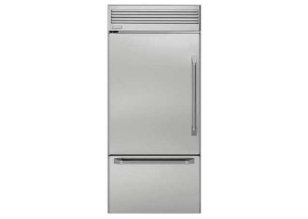 "Monogram 36"" Stainless Steel Built-In Bottom-Freezer Refrigerator - ZICP360NHLH"