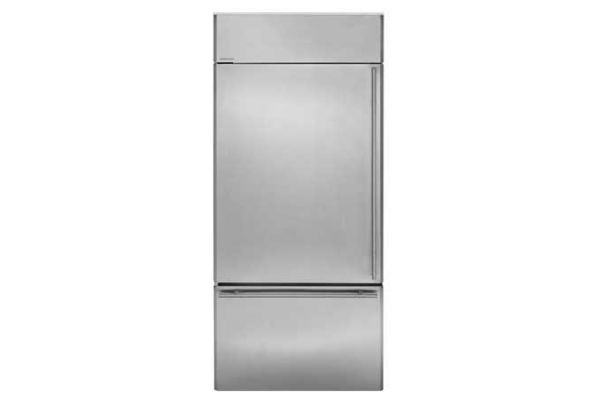 "Monogram 36"" Stainless Steel Built-In Bottom-Freezer Refrigerator - ZICS360NHLH"