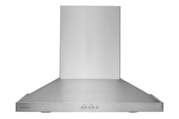 "Large image of Monogram 30"" Stainless Steel Wall-Mounted Vent Hood - ZV830SMSS"