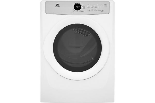 Large image of Electrolux Island White Gas Dryer - EFDG317TIW