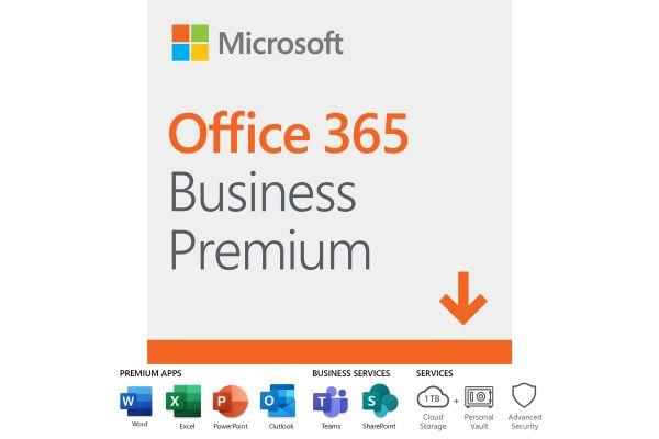 Microsoft Office 365 BusinessPremium, 12-Month Subscription, 1 Person, PC/Mac Download - KLQ-00218