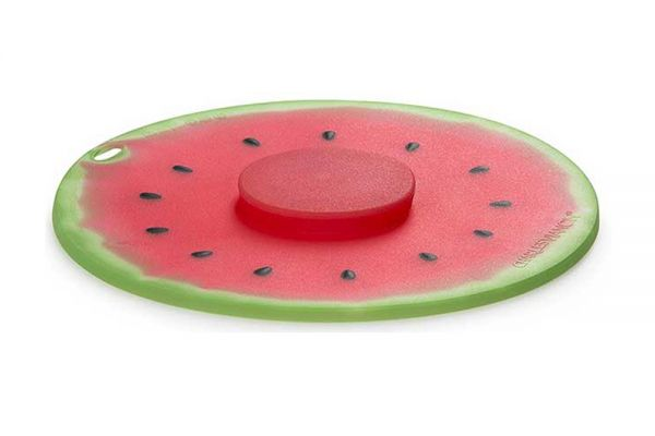 """Large image of Charles Viancin 8"""" Watermelon Air-Tight Silicone Lid - 10103"""