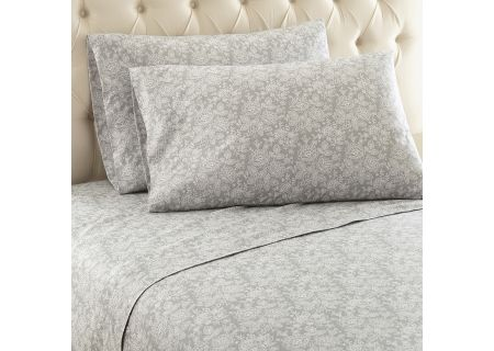 Shavel Micro Flannel King Enchantment Gray Sheet Set  - MFNSSKGEGR