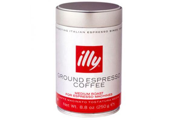 Large image of illy Ground Espresso Medium Roast 8.8 Oz Can - 00489