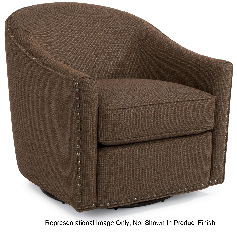Flexsteel Kedzie Navy Swivel Chair
