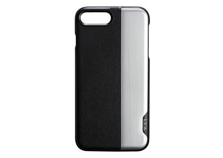 Tumi Horizontal Slider Black Silver Case For iPhone 7 / 8 Plus - 0114237DSLV