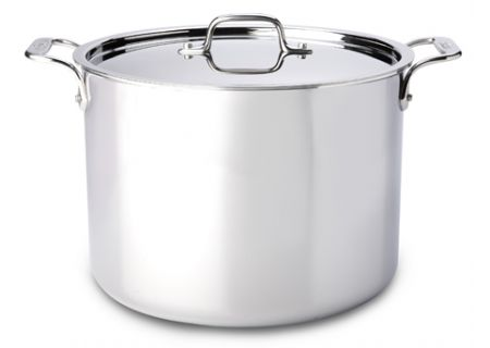 All-Clad Stainless Steel 12 Qt Stock Pot With Lid - 8701004411