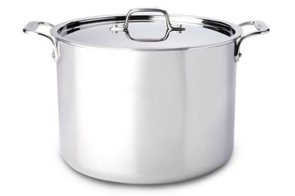 Large image of All-Clad Stainless Steel 12 Qt Stock Pot With Lid - 8701004411