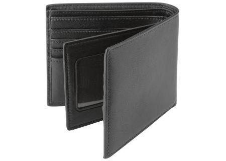 Tumi Black Center Flip ID Passcase Wallet - 0118632D-ID