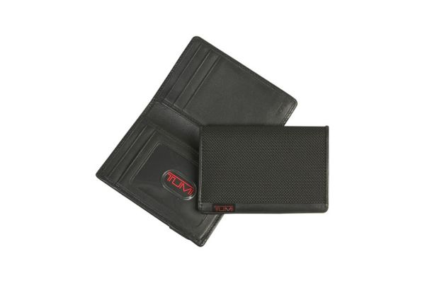 Tumi Alpha Black Multi Window Card Case - 0119274D-ID