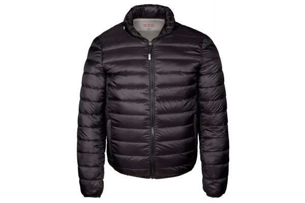 Large image of TUMI Small PAX Outerwear Patrol Packable Travel Puffer Men's Jacket - 15756-BLACK S