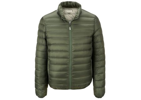 Tumi PAX Outerwear Patrol Packable Travel Puffer Mens Jacket - 15756-MOSS S