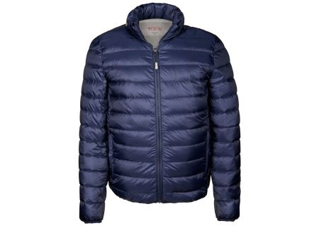 Tumi Large PAX Outerwear Patrol Packable Travel Puffer Mens Jacket - 15756-NAVY L