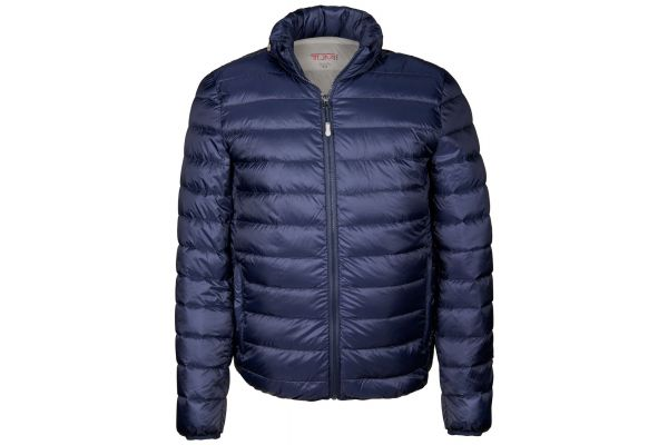 Tumi Medium PAX Outerwear Patrol Packable Travel Puffer Mens Jacket - 15756-NAVY M
