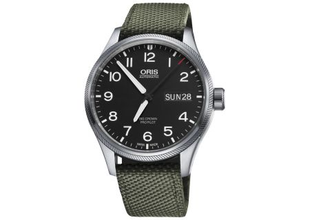 Oris Big Crown ProPilot Day Date Stainless Steel And Green Mens Watch  - 01 752 7698 4164-07 5 22 14FC