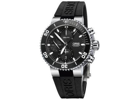Oris Aquis Chronograph Stainless Steel And Black Mens Watch  - 01 774 7655 4154-07 4 26 34EB