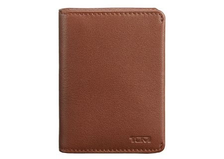 Tumi Nassau Brown Textured ID Lock Gusseted Card Case - 0186156B