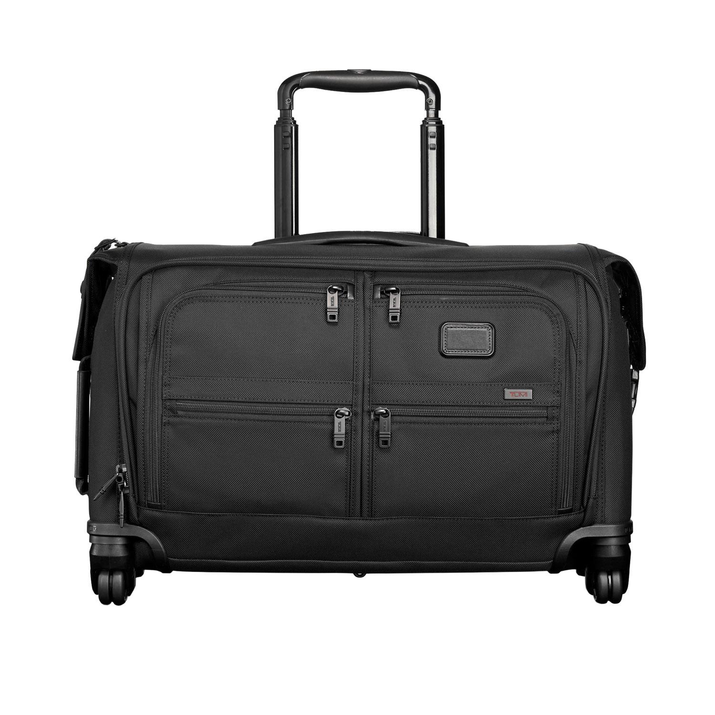 tumi alpha black carry on 4 wheeled garment bag 022038d2. Black Bedroom Furniture Sets. Home Design Ideas
