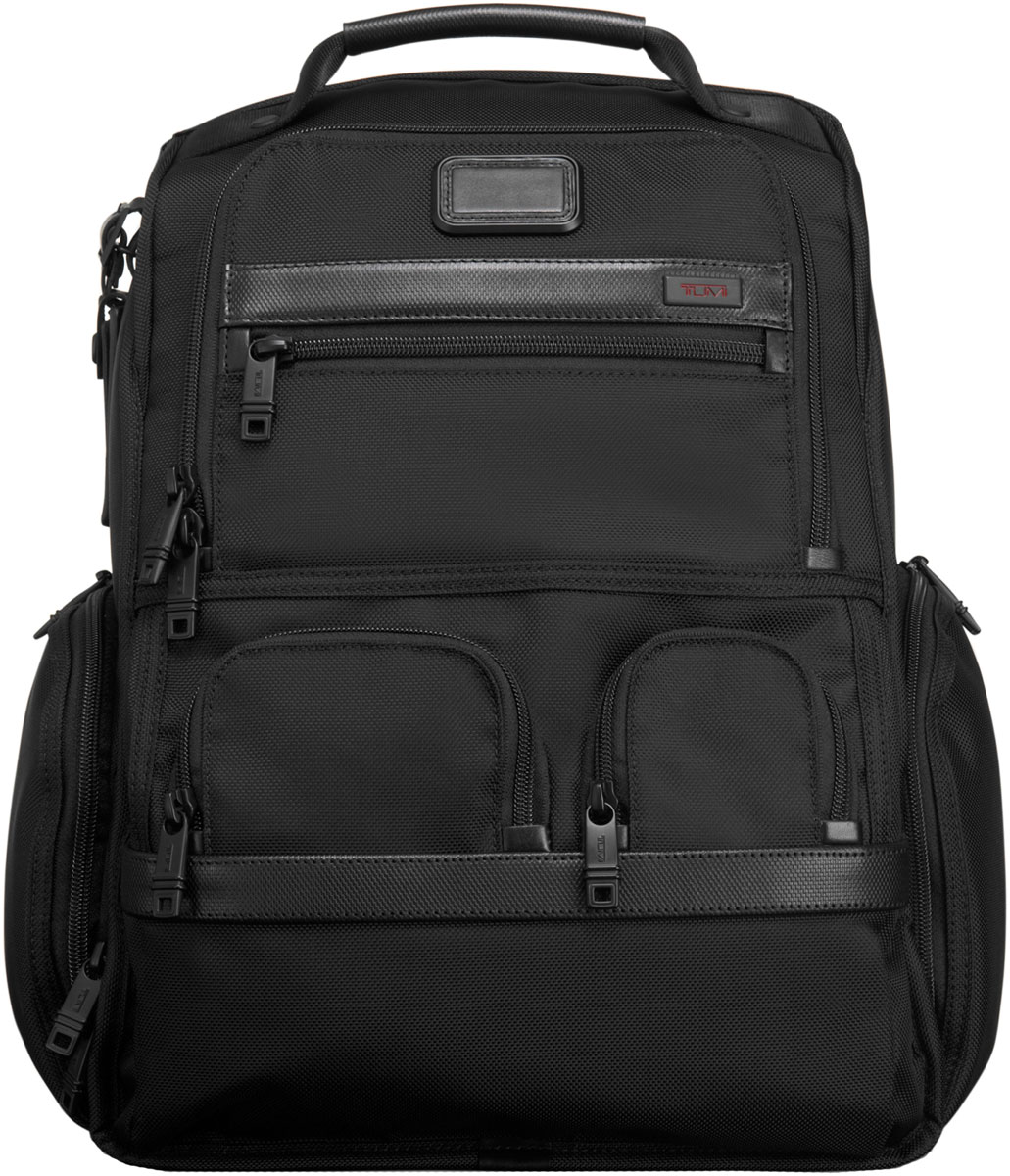 Tumi Black Alpha 2 Laptop Brief Pack 026173 Black
