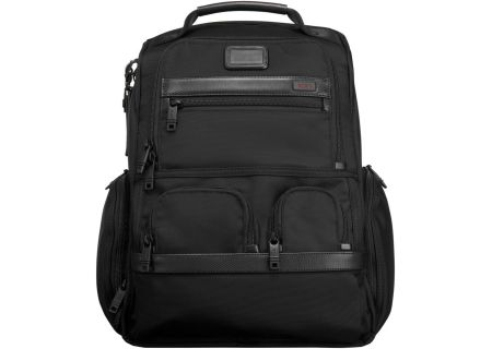Tumi Black Alpha 2 Collection Compact Laptop Brief Pack - 026173 BLACK